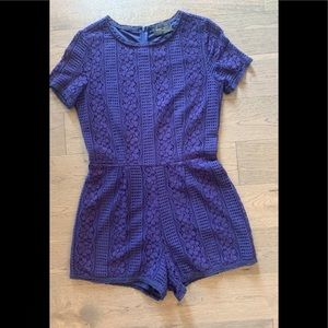Purple Lacy Romper